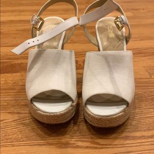 MICHAEL by Michael Kors white wedge sandal.